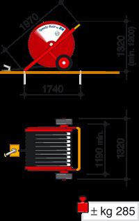 Speedy Rain 505 Mini Hose Reel Irrigator Javelin Irrigation